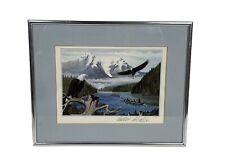 Vintage 80s ERIC NEVATIE Artist Signed Framed Print Canadian Indigenous KWAKIUTL