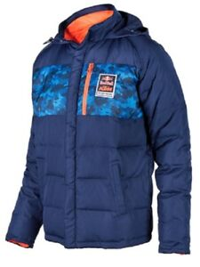 KTM RED BULL FACTORY RACING DOWN JACKET BLUE COLD WEATHER SIZE SMALL WAS $175.00