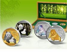 PANDA 2015 SILVER Investment Coin Prestige Set China 4 x 1 OZ ARGENTO varianti!