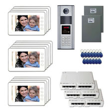 """Apartment Security Door Video Intercom Kit System with (13) 7"""" Color Monitor"""