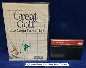 Great Golf Game Cart + Case for Sega Master System - US Release (B)