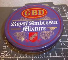 vintage GBD Royal Ambrosia Mixture tobacco tin, great colors & graphics