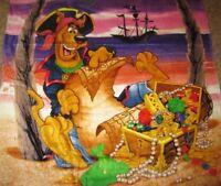 New Scooby Doo Pirate Treasure Beach Bath Pool Boys Kids Gift Towel Vibrant NIP