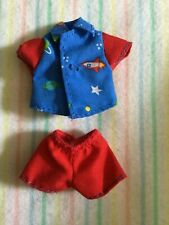 Mattel Kelly Club Doll SPACE Outfit For Tommy Doll Blue Shirt Planets Red Shorts