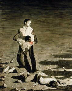Norman Rockwell Murder in Mississippi Poster Reproduction Giclee Canvas Print