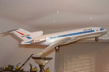 C1968 REMCO Boeing 727 Battery Operated Toy Painted In Early 1970 UNITED Livery