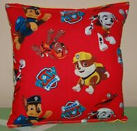 Paw Patrol Red Pillow HANDMADE In USA Toddler ,Travel , Daycare, Pillow