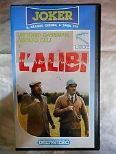 L'ALIBI ( VITTORIO GASSMAN - ADOLFO CELI -1969 )# VHS - Come Nuova #
