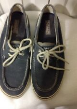 Men's Sperry, Top Sider 2 Eye Lace up Boat Shoes Size 9.5M Gray