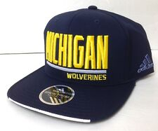 9d6f10a26dc new 26 ADIDAS MICHIGAN WOLVERINES SNAPBACK HAT Flat-Bill Navy-Blue Men Women