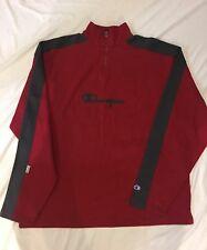 Vintage Champion Embroidered 1/4 Zip Sweatshirt size XXL fits like XL