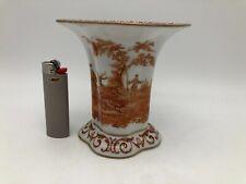 1900 antik 12cm Vase Dresden handbemalt Hamann Donath&Co. Klemm Lorenz Jagdszene