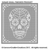 SUGAR SKULL - FILET CROCHET Pattern
