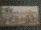 Vintage Tapestry Great Scene Victorian Renaissance Water Gossip Belgium 36x19.5