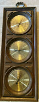 Vintage Wall Springfield  Weather Station Humidity Meter Temperature Barometer