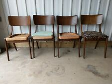 VINTAGE RETRO ART DECO STUNNING DINING CHAIRS X 4 REFURB RE-UPHOLSTERY PROJECT