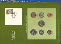 Coin Sets of All Nations Guernsey w/card 1985 UNC £1, 1,2,5, 10, 20, 50 Pence
