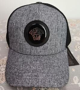 Versace Hat Baseball Cap Adjustable Snapback Men Women Outdoor Cap Gray