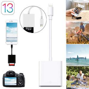 SD Card Camera Reader Adapter For Apple iPhone12/11/X/XR/XS/8 iPad mini Air Pro