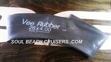 """Fat Tire Bike SV Inner Tubes 26"""" x 4.0 Fat Tire Beach Cruiser Tube - NEW"""