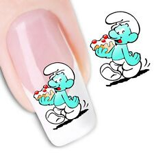 Nail Art Sticker Water Decals Transfer Stickers Smurfs (DX1247)
