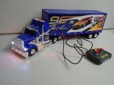 "Fast Lane RC Semi Truck Trailer Sounds Horn Lights Toys R Us HUGE 27""! VIDEO!"