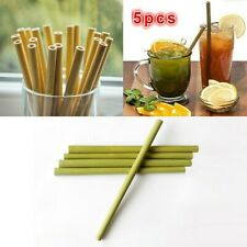 5X Bamboo Drinking Straws Reusable Eco-Friendly Party Club Kitchen Healthy Craft