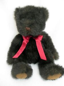 Russ Berrie Dickens Teddy Bear Plush Dark Brown