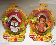 #9114 NRFB Mattel Barbie Happy Thanksgiving Kelly & Kerstie Dolls