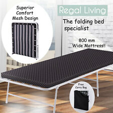 Folding Bed Guest Bed Camping Bed with Memory Foam Mattress & Free Carry Bag
