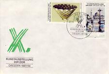 Ersttagsbrief DDR MiNr. 3124, 3127, Kunstausstellung der DDR, Dresden
