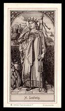 antico santino litografico- holy card S.LUIGI RE DI FRANCIA