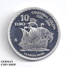 Spanien 10 Euro 2006 - Kolumbus Silber PP - Spain Cristobal Colon Santa Maria