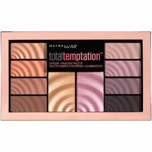 Maybelline Total Temptation Eyeshadow & Highlight Palette 12g - Brand New Sealed