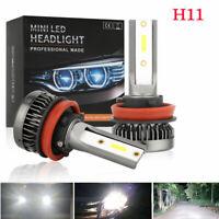 2x H8 H9 H11 100W 20000LM LED Headlight Bulbs Conversion Kit 6000K High Low Beam