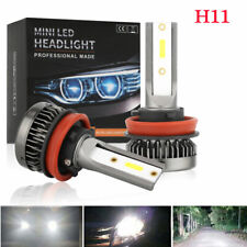 2x H8 H9 H11 100W 20000LM LED Headlight Bulbs Conversion Kit 6000K High Low Beam