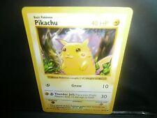 Pokemon PIKACHU ( RED CHEEKS ) 58/102 MISPRINT BASE UNLIMITED!  NEAR MINT