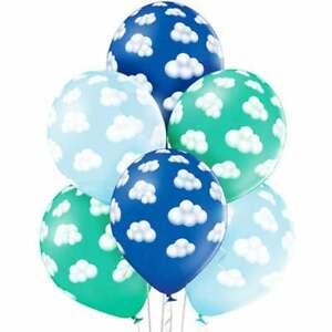 Blue Cloud birthday balloons 12'' Latex High Quality Helium Balloons , BAL9925