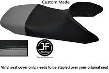 BLACK & GREY AUTOMOTIVE VINYL CUSTOM FITS HONDA TRANSALP XL 650 SEAT COVER ONLY