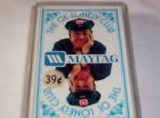 Vtg Maytag Advertising Playing Cards Original 1st Actor Jesse White Ol Lonely