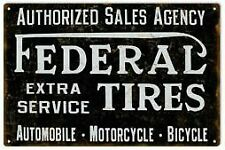 Vintage Antique Style Metal Sign Federal Tires 18x30