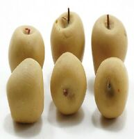 Dollhouse Miniature Set of 6 Yellow Apples