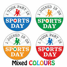 144 x Sports Day 'Taking Part' Reward Stickers - Teachers Parents Kids