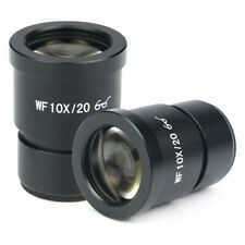 Pair of WF10X/20 Microscope Eyepiece 30mm Wide Angle High Eyepoint Optical Lens