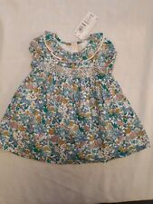 Marks And Spencer Baby Girls Dress Age 3-6 Months blue floral New