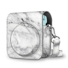 For Fujifilm Instax Mini 11 Instant Camera Case Cover Adjustable Strap -Marble