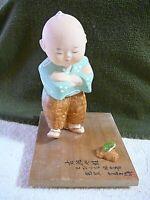 Hakata Doll, The Boy And His Frog, Japanese Hakata Association Sticker