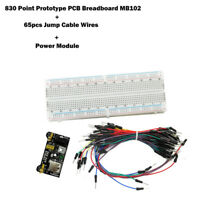 MB102 830 Point Prototype PCB Breadboard+ 65pcs Jump Cable Wires + Power Module