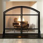 Pleasant Hearth FA338S Harper 1-Panel Fireplace Screen with Doors - Antique