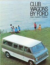 1969 Ford Club Wagon Sales Brochure -  Club - Custom - Chateau